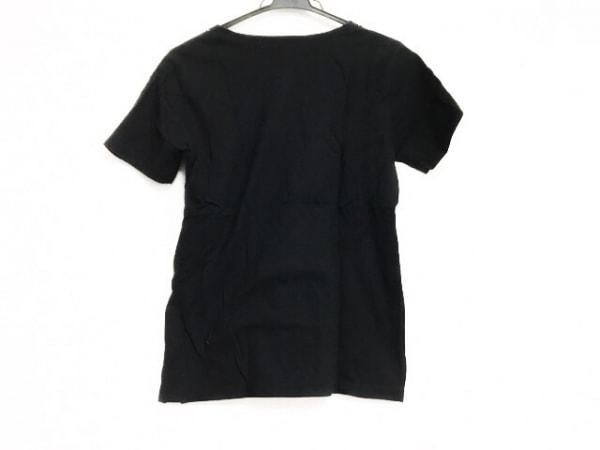 HaaT HeaRT(ハート) 半袖カットソー サイズ2 M レディース美品  黒×白 刺繍