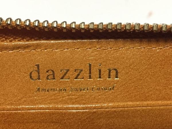 DAZZLIN(ダズリン) 長財布 ブラウン ラウンドファスナー 合皮