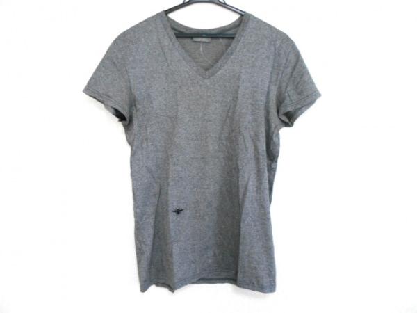 Dior HOMME(ディオールオム) 半袖Tシャツ サイズXXS XS メンズ グレー×黒 刺繍