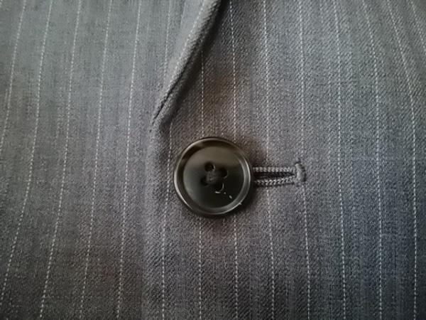 コムサメン シングルスーツ サイズ46F メンズ美品  ダークグレー×ライトグレー