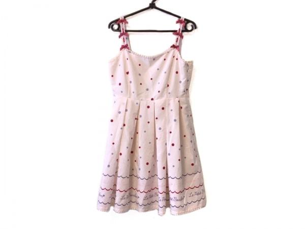 アンクルージュ ワンピース サイズM レディース美品  ピンク×ボルドー×パープル