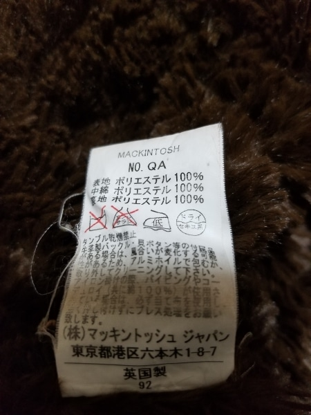 MACKINTOSH(マッキントッシュ) コート サイズ36 S レディース美品  ダークブラウン