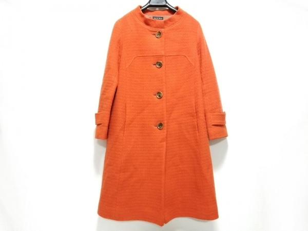 THE GINZA(ザ ギンザ) コート サイズ40 M レディース オレンジ 冬物