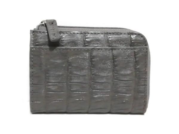 RODANIA(ロダニア) コインケース美品  グレー 型押し加工 レザー