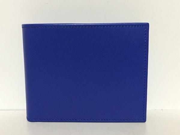 L&CBOLDRINI(ボルディーニ) 2つ折り財布 ブルー レザー