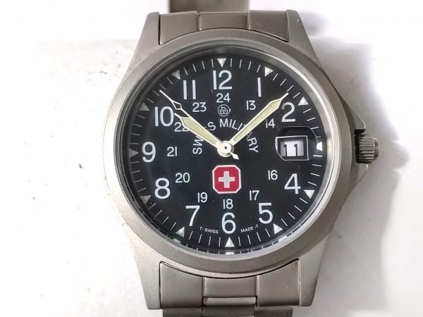 SWISS MILITARY(スイスミリタリー) 腕時計美品  5304 ボーイズ 黒