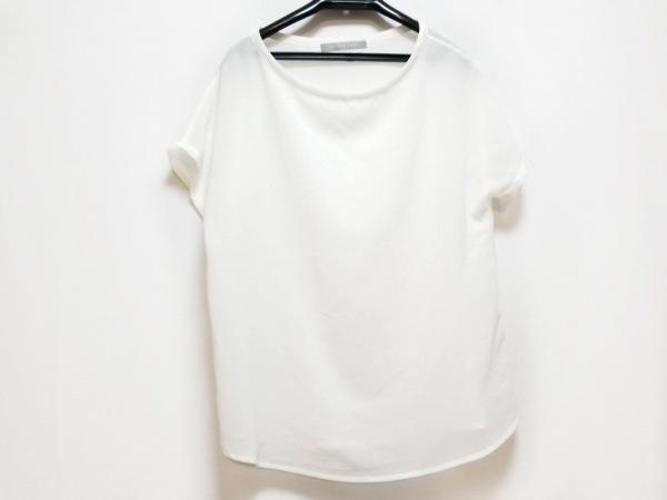 セオリーリュクス 半袖カットソー サイズ40 M レディース美品  白 シースルー