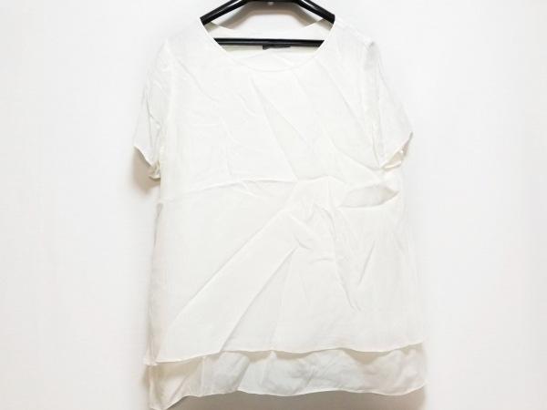 セオリーリュクス 半袖カットソー サイズ40 M レディース美品  白 シワ加工