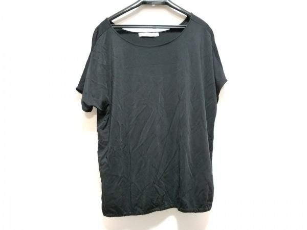 セオリーリュクス 半袖カットソー サイズ38 M レディース美品  黒 ウエストゴム