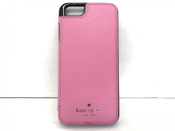Kate spade(ケイトスペード) 携帯電話ケース新品同様  ピンク×黒 LIVE COLORFULLY