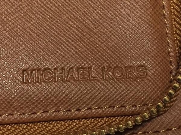 マイケルコース 長財布美品  アイボリー×ダークブラウン ラウンドファスナー
