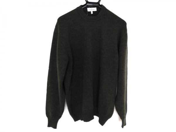 ErmenegildoZegna(ゼニア) 長袖セーター サイズL メンズ カーキ