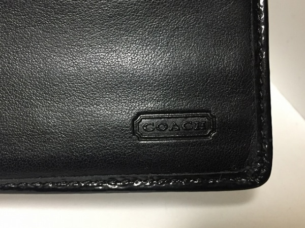 COACH(コーチ) 長財布 シグネチャー柄 黒×グレー ジャガード