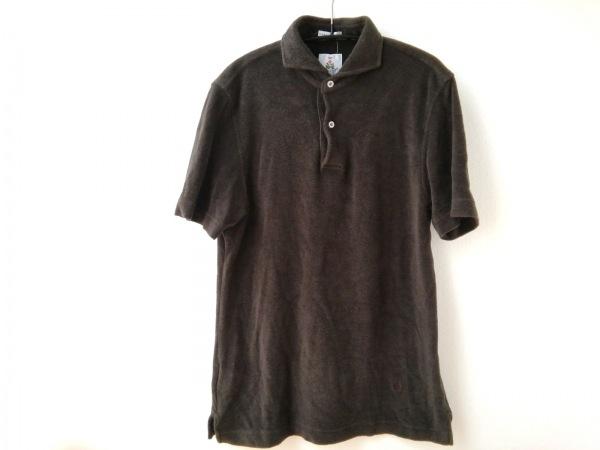 Guy Rover(ギローバー) 半袖ポロシャツ サイズS メンズ ダークグレー パイル