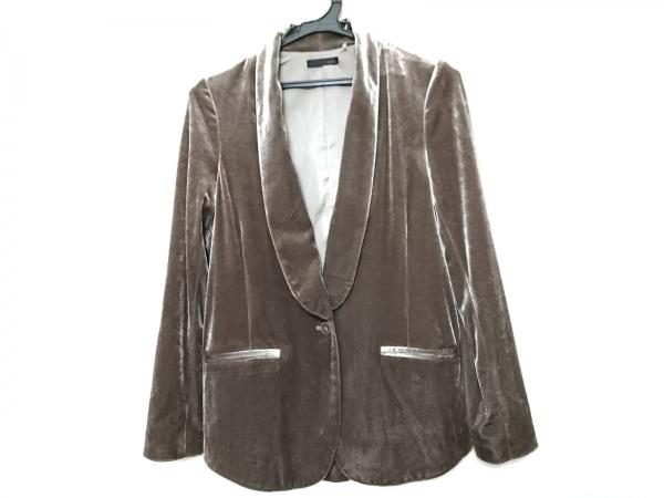 NINE(ナイン) ジャケット サイズ0 XS レディース グレー ベロア