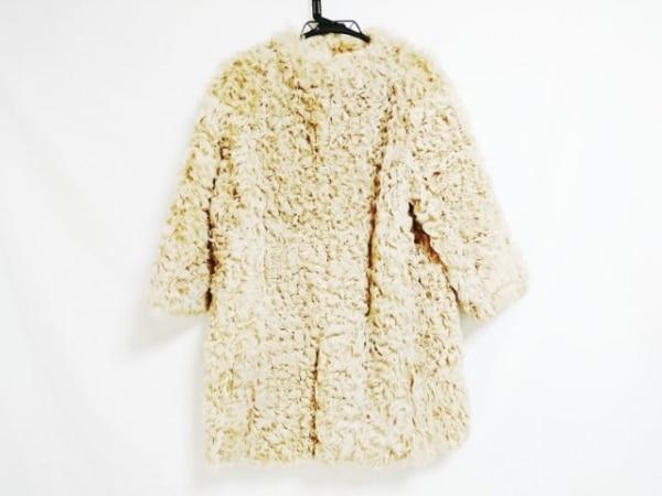 ジュンコシマダ コート サイズ38 M レディース美品  ライトブラウン 冬物
