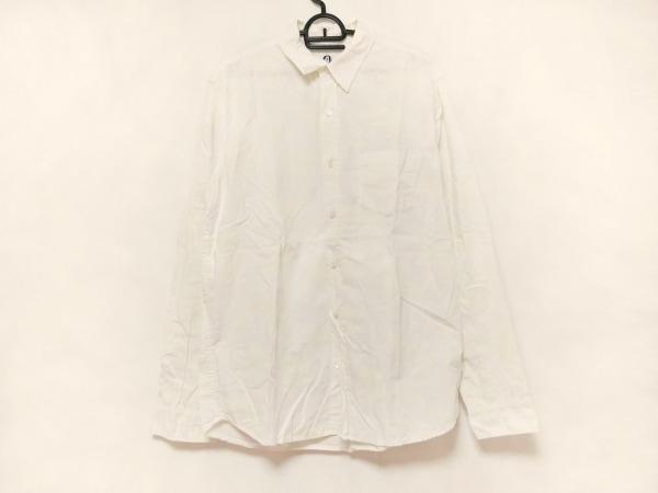 GOOD ENOUGH(グッドイナフ) 長袖シャツ サイズL メンズ美品  白×アイボリー 迷彩柄