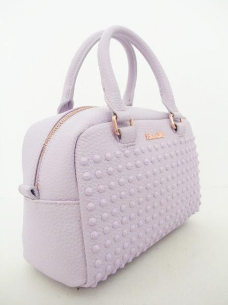 Emiria Wiz(エミリアウィズ) ハンドバッグ新品同様  パープル スタッズ レザー