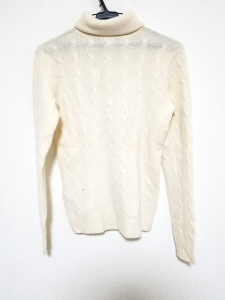 ラルフローレン 長袖セーター サイズM レディース美品  アイボリー タートルネック