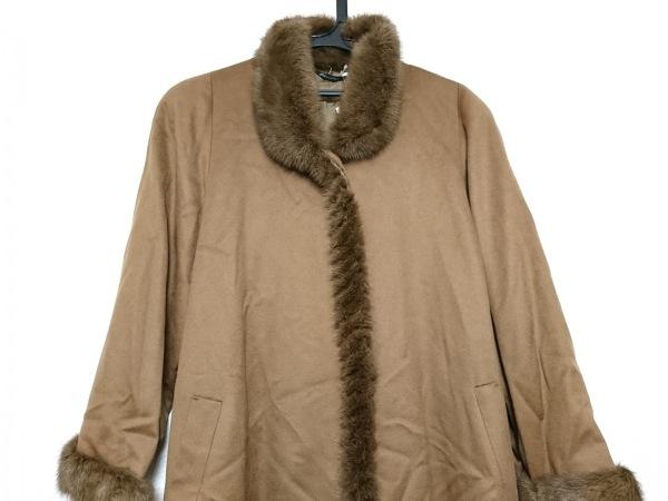 PIACENZA(ピアチェンツァ) コート サイズ9 M レディース美品  ブラウン 冬物