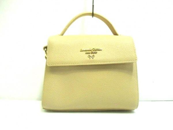 サマンサタバサプチチョイス ハンドバッグ美品  ベージュ ミニサイズ 合皮