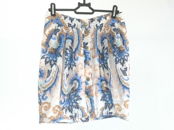 tibi(ティビ) スカート サイズ2 S レディース美品  白×ブルー×マルチ