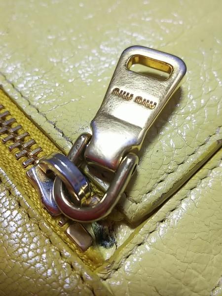 miumiu(ミュウミュウ) 長財布 - 5M1109 イエロー リボン レザー