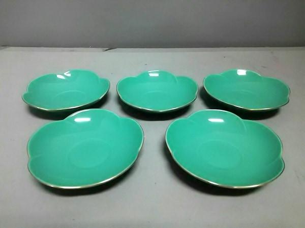香蘭社(コウランシャ) プレート新品同様  グリーン プレート×5 陶器