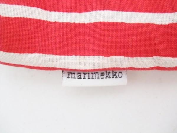 marimekko(マリメッコ) ショルダーバッグ レッド×白 ストライプ/ミニサイズ コットン