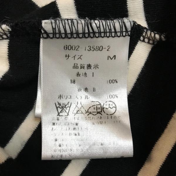 one spo(ワンスポ) ワンピース サイズM レディース美品  黒×アイボリー ボーダー