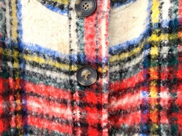 フリーピープル コート サイズXS レディース レッド×白×マルチ 冬物/チェック柄