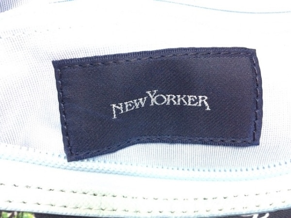 NEW YORKER(ニューヨーカー) ハンドバッグ ダークネイビー×ライトブルー×マルチ