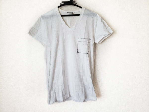 Dior HOMME(ディオールオム) 半袖Tシャツ サイズS メンズ 白×黒