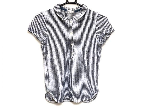 サリースコット 半袖ポロシャツ サイズM レディース ネイビー×白 ボーダー