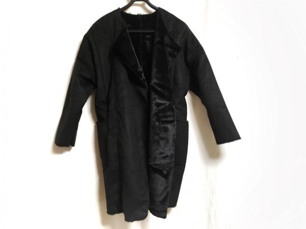 SCOTCLUB(スコットクラブ) コート サイズ9 M レディース 黒 冬物/フェイクファー