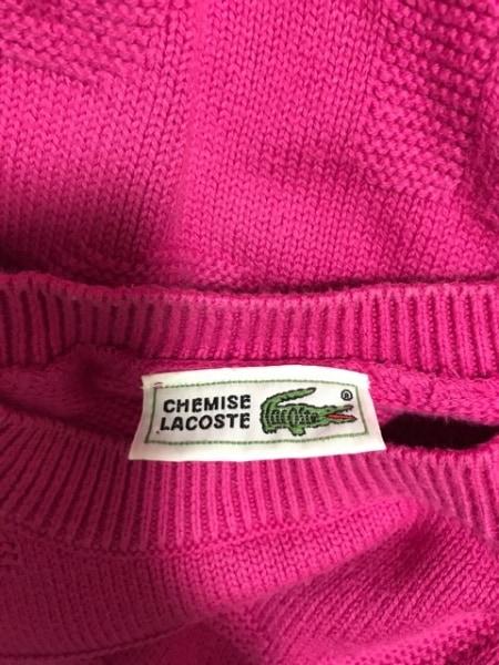 Lacoste(ラコステ) 長袖セーター サイズ42 L レディース美品  ピンク CHEMISE