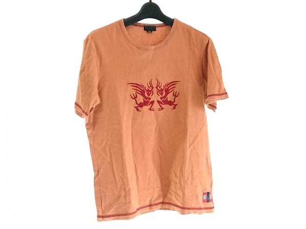 FICCE(フィッチェ) 半袖Tシャツ サイズL メンズ ライトブラウン×ボルドー