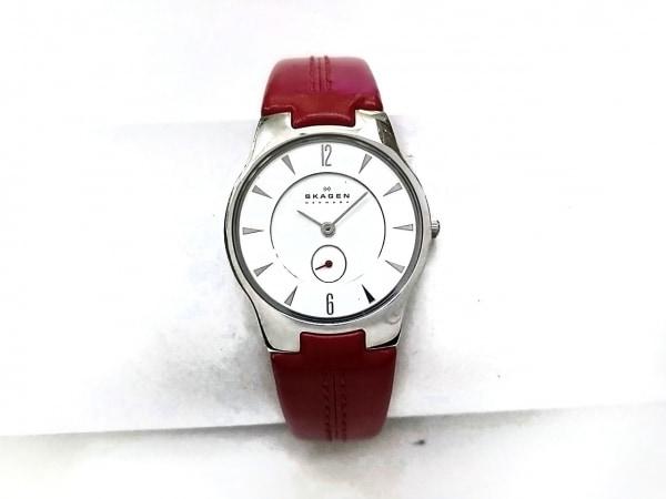 SKAGEN(スカーゲン) 腕時計 433SSLR レディース 革ベルト 白