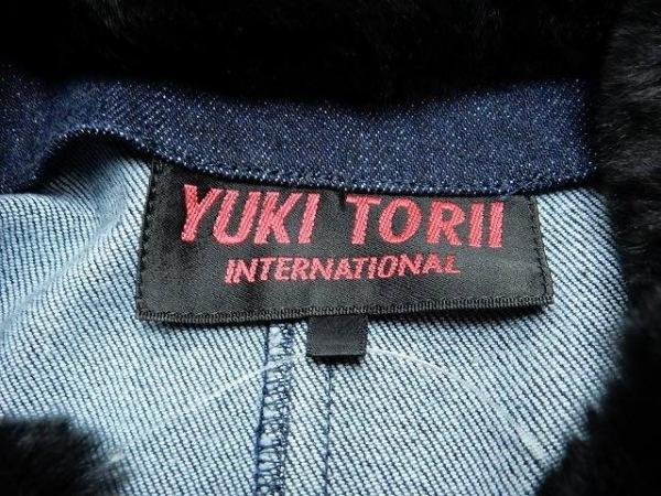 ユキトリイ スカートセットアップ サイズ40 M レディース ネイビー×黒 デニム