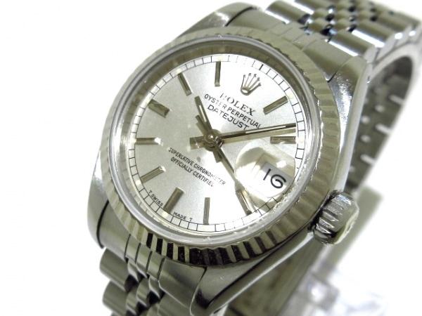 ロレックス 腕時計 デイトジャスト 69174 レディース K18WG×SS/20コマ シルバー