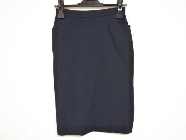 HERMES(エルメス) スカート サイズ38 M レディース ダークネイビー