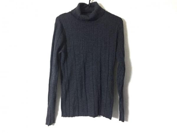 5351プールオム 長袖セーター サイズ2 M メンズ ダークグレー タートルネック