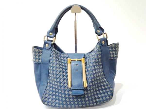 Aleanto(アレアント) ハンドバッグ ブルー×ライトブルー×マルチ レザー