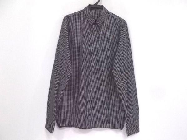 クリスヴァンアッシュ 長袖シャツ サイズ46 XL メンズ美品  黒×白 チェック柄