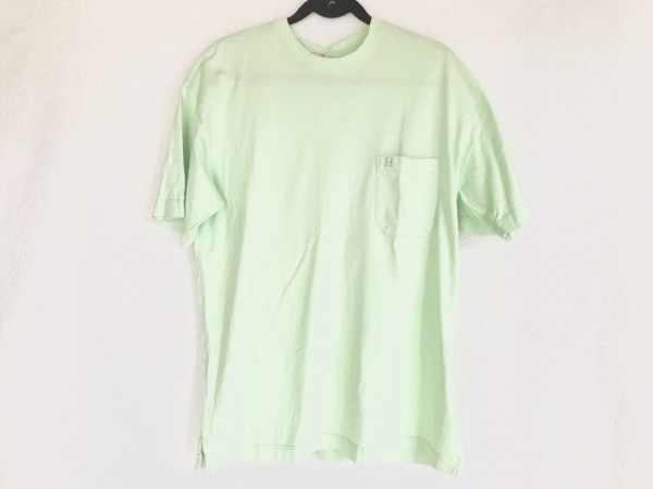 HERMES(エルメス) 半袖Tシャツ サイズXL メンズ ライトグリーン