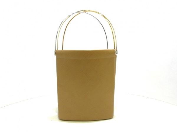 カルティエ ハンドバッグ トリニティ ベージュ×ゴールド×シルバー レザー×金属素材