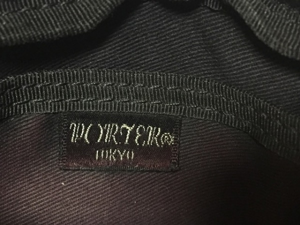 PORTER/吉田(ポーター) コインケース - 黒 ストライプ キャンバス