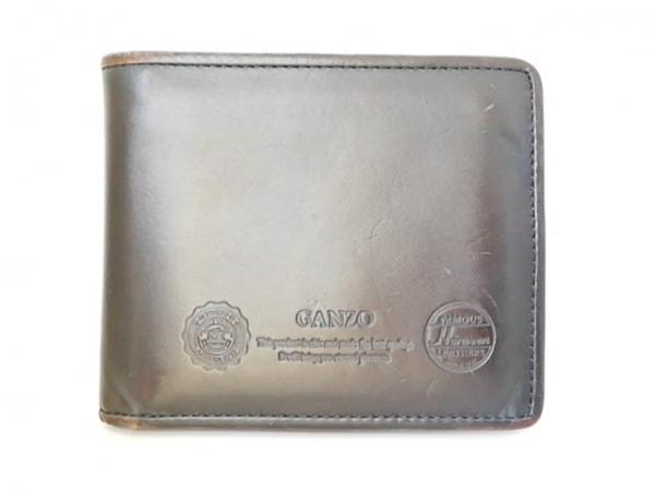 GANZO(ガンゾ) 2つ折り財布 黒 レザー