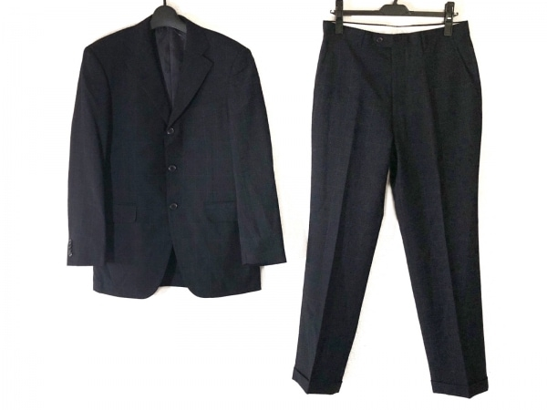 インヘイルエクスヘイル シングルスーツ サイズ170A メンズ ダークネイビー×白