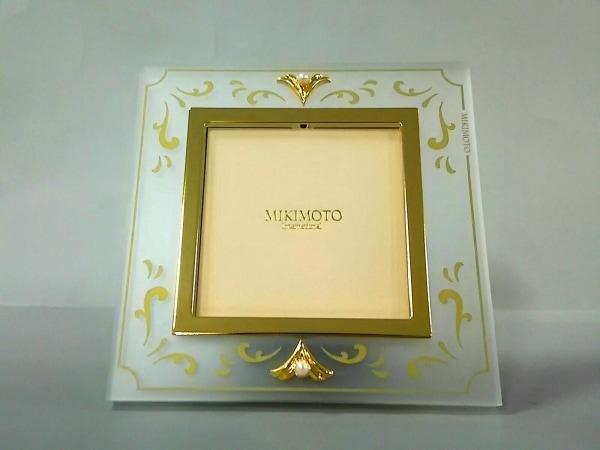 mikimoto(ミキモト) 小物美品  クリア×ゴールド×アイボリー 写真立て